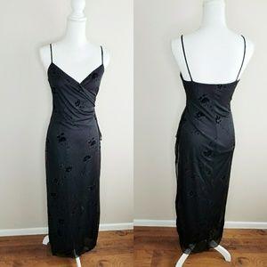 IN SanFran Black Stunning Black Evening Gown Dress